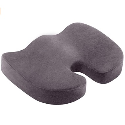 Coccyx Seat Cushion Orthopaedic Memory Foam Seat Cushion for Car Office Wheelchair Hip Back Sciatica/Tail Pain Relief