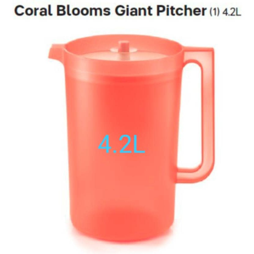 Tupperware GIANT PITCHER 4.2L X1 (LIMITED EDITION) coral blooms
