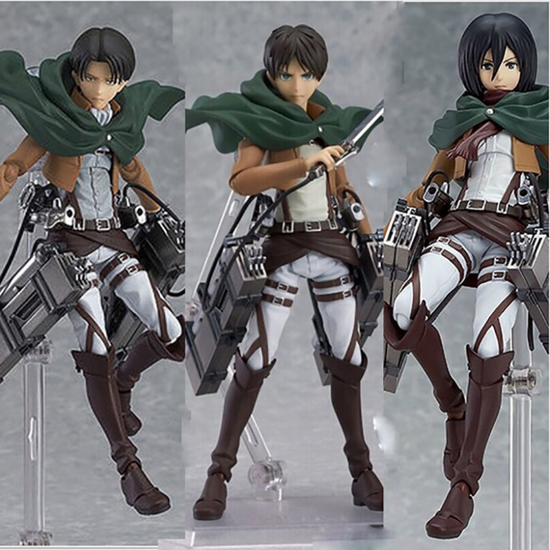Attack On Titan Levi·Ackerman Amine PVC Action Figure Figures Figurine Toy Doll