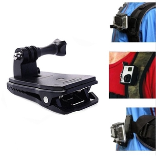360 Degree Rotating Backpack Hat Clip Clamp Mount Belt Buckle for GoPro Hero