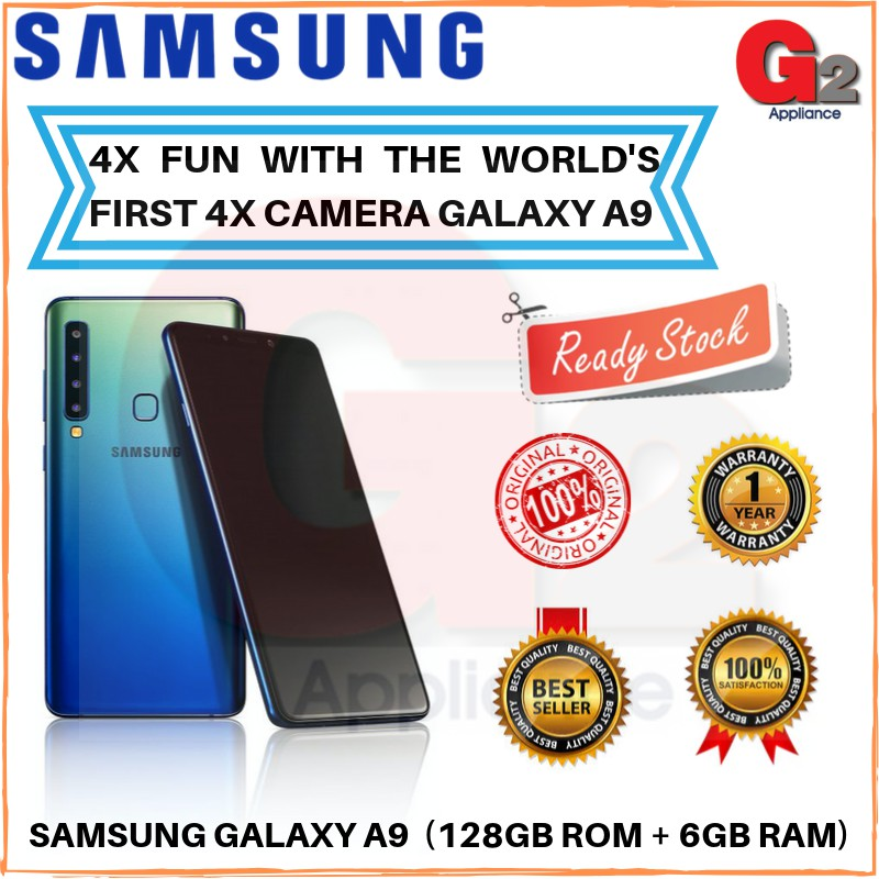 SAMSUNG GALAXY A9 (new 2018) 128GB ROM + 6GB RAM-SAMSUNG ORIGINAL WARRANTY MALAYSIA