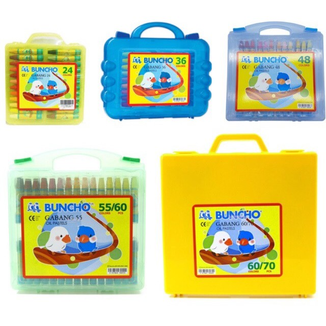 Buncho Gabang Oil Pastel 24C/ 36C/ 48C/ (55C/60'S)/ (60C/70'S) Crayon *Original*
