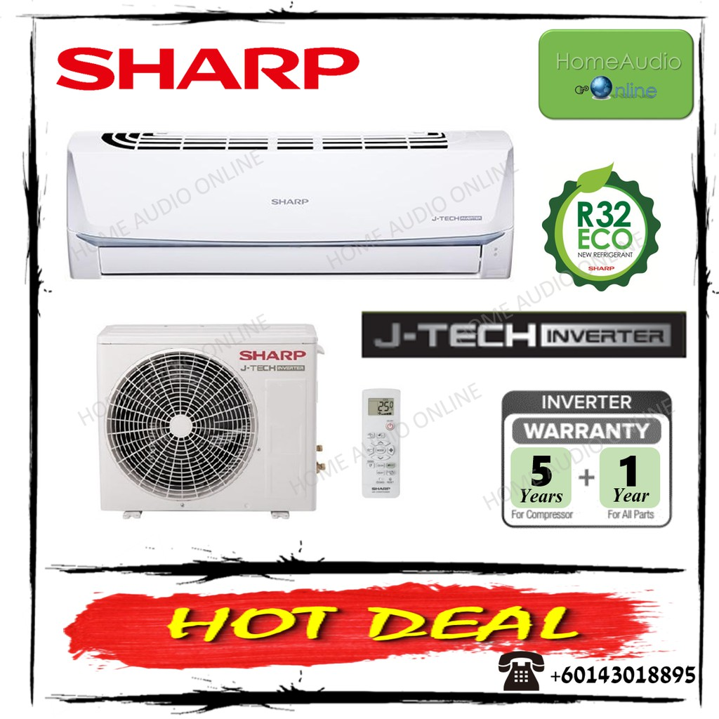Sharp 1.5HP R32 Standard Inverter Air Conditioner - AHX12VED2 / AUX12VED2