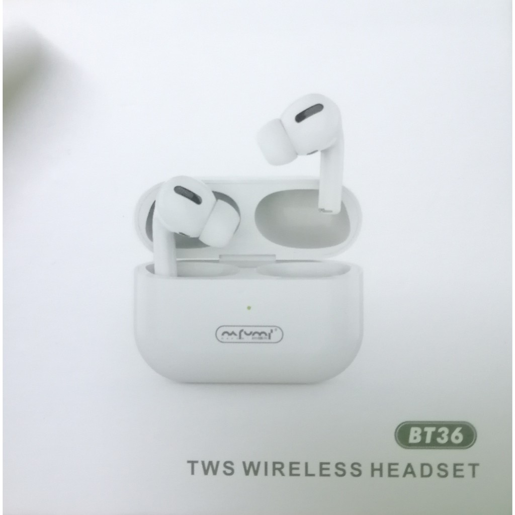 NAFUMI BT36 TWS WIRELESS HEADSET TRUE WIRELESS STEREO BLUETOOTH EARPHONE  SENSOR TOUCH CONTROL CHARGING MIC