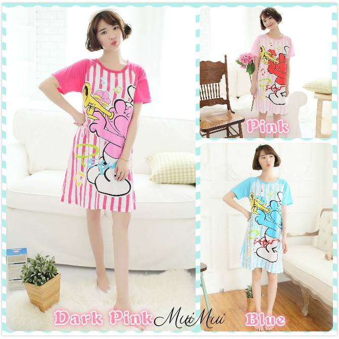 MuiMui Promotion Baju Tidur 2 Design Cotton Pajamas Cartoon Nightdress  30d343b995