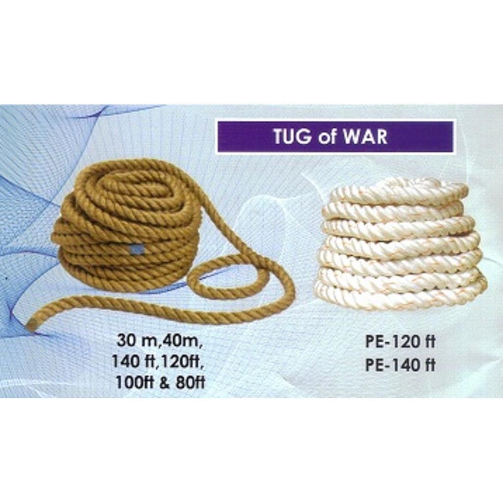 Rope Tug of War - 100ft 40mm (Jute Fibre) CQ