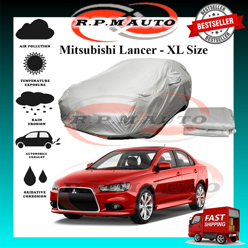 Mitsubishi Lancer High Quality Yama Car Covers - Size XL (490x180x119cm) selimut kereta mitsubishi lancer car cover lanc