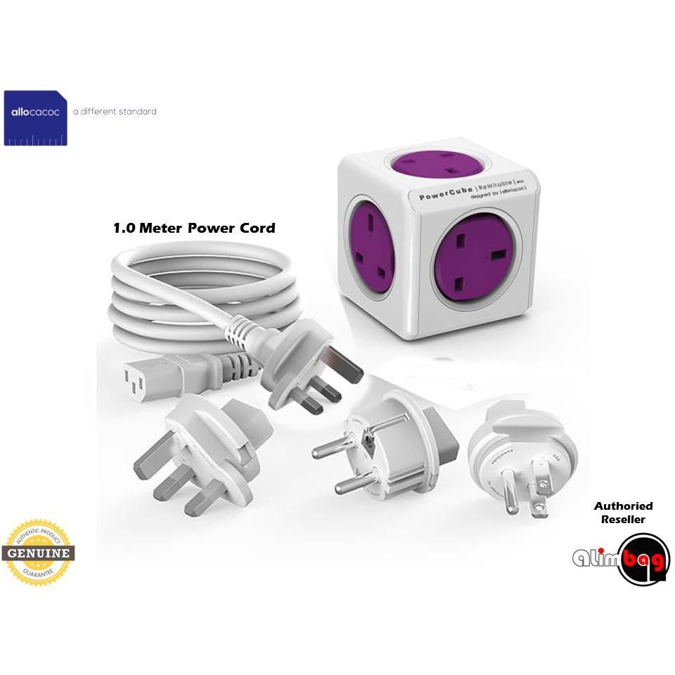Allocacoc Powercube 4 prises double ports USB UK Plug