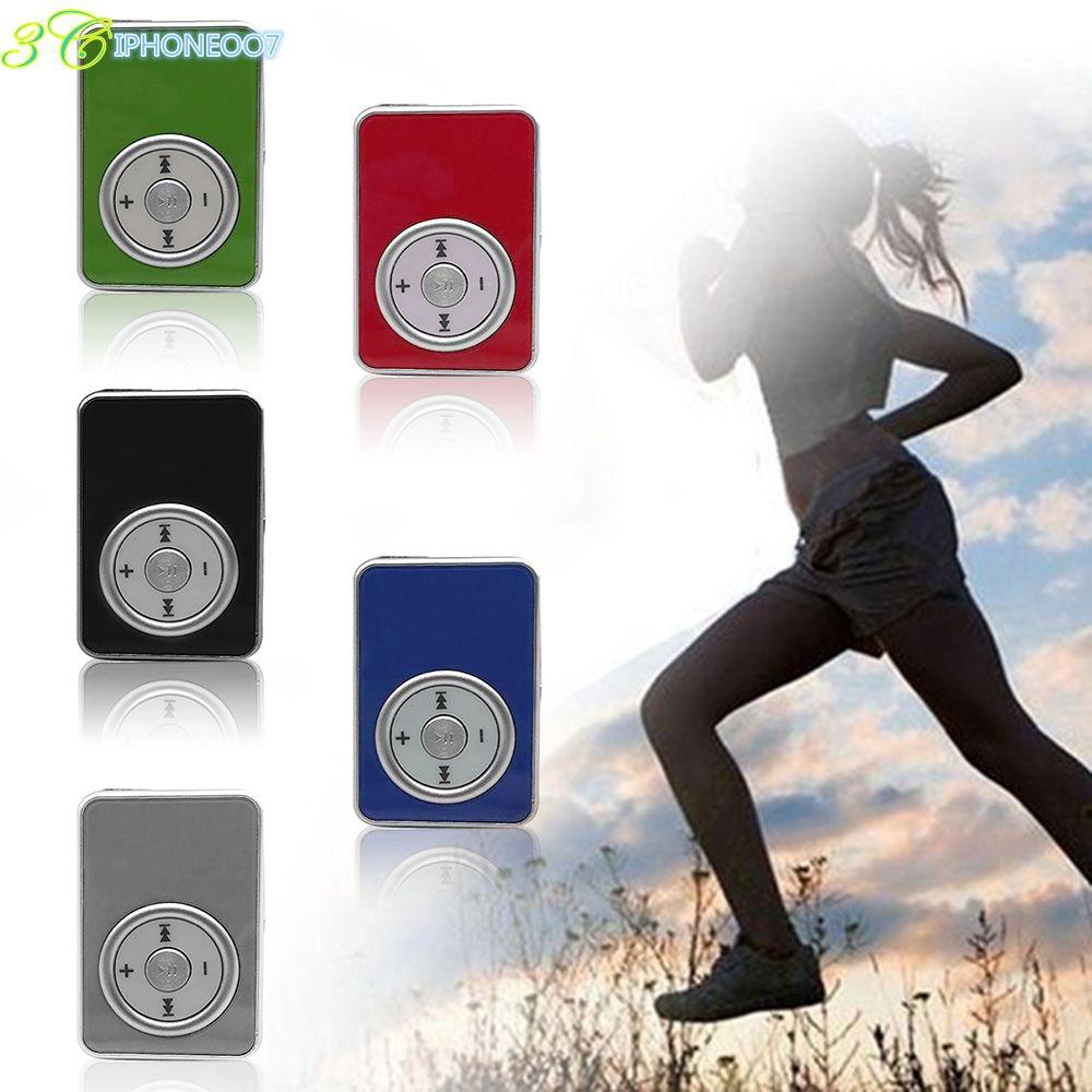 IPO Portable Mirror MP3 Player Mini Clip MP3 Music Player Support SD TF Card