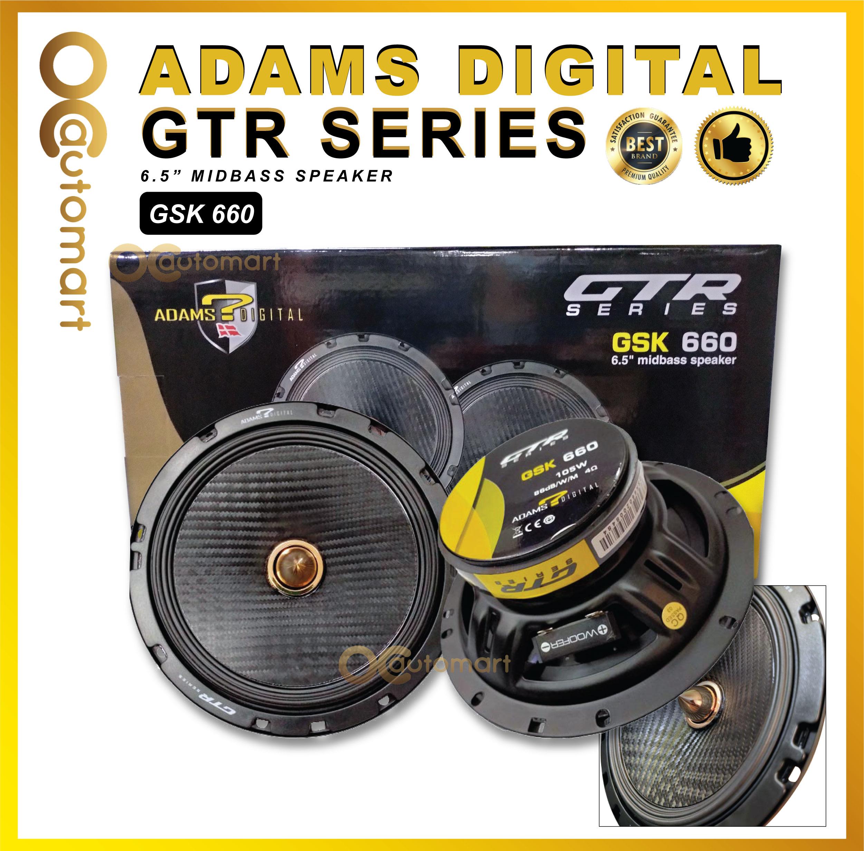 Adams Digital GTR Series GSK 660 6.5 Inch Mid bass Speaker Max 180 Watt
