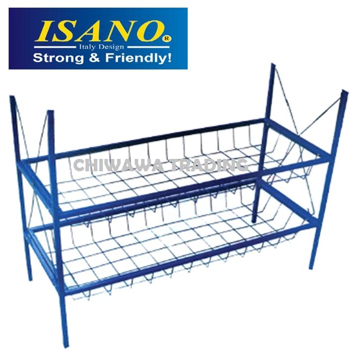 ISANO BSS Sink Bowl Stand Storage Rack Double Layer Dish Drainer Organizer / Rak Piring Pinggan Mangkuk