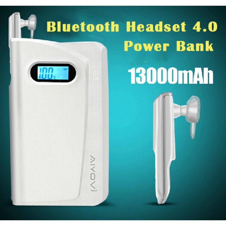 AIYOVI 13000 mAH POWER BANK + 4.0 HEADSET STEREO BLUETOOTH