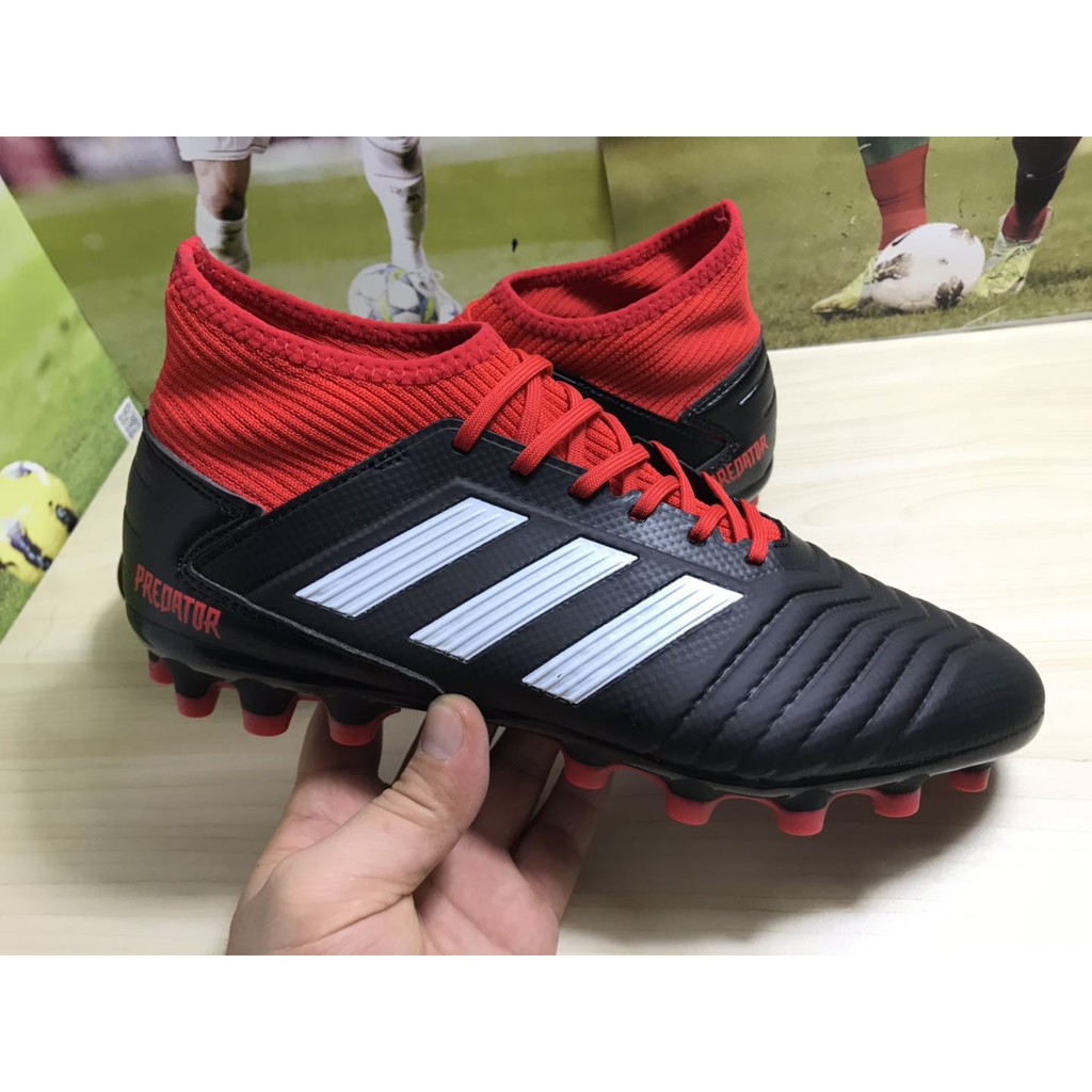 espalda Punta de flecha divorcio  Original Adidas Predator 19.3 AG Men's soccer shoes size: 36-45 black / red  | Shopee Malaysia
