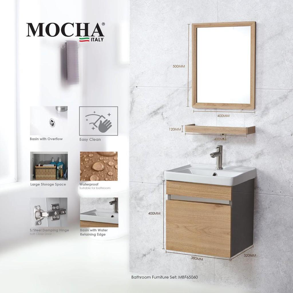 Mocha M65060 6 In1 Heavy Duty, Mocha Bathroom Vanity