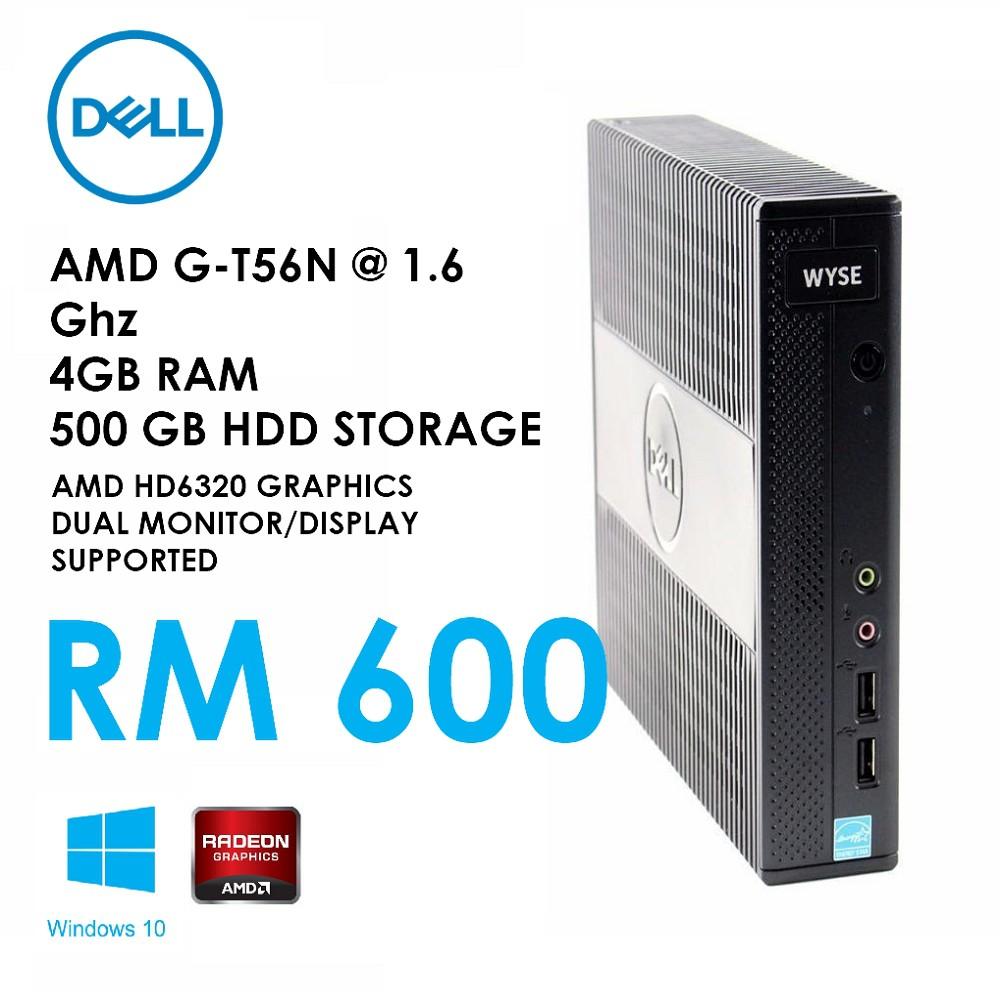 🚩🚩🚩🚩🚩Mini PC Dell 7010 AMD G-T56N@1 6Ghz 4GB RAM 500GB AMD HD 6320  Graphics