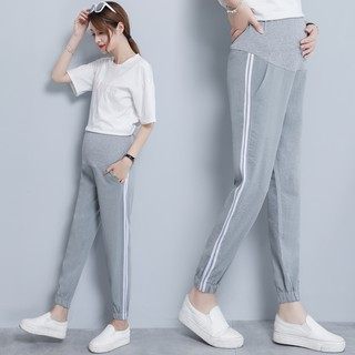 cozy fresh durable service hot-selling authentic Thin Maternity Pants High Waist Belly Sports Jogger Pants for Pregnant Women