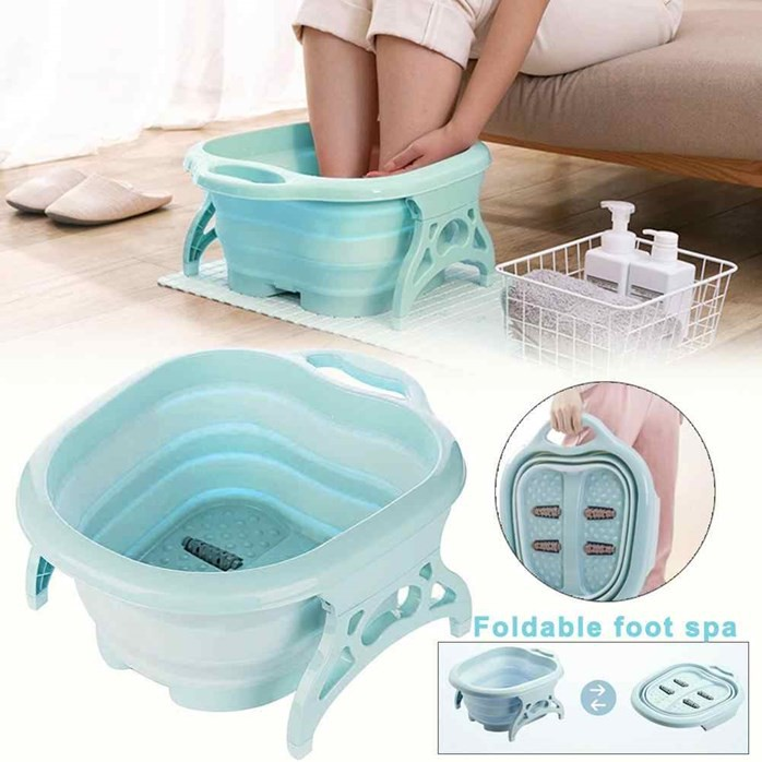 Foldable Foot Bath Foot Spa Feet Wash Soak Massage Bucket