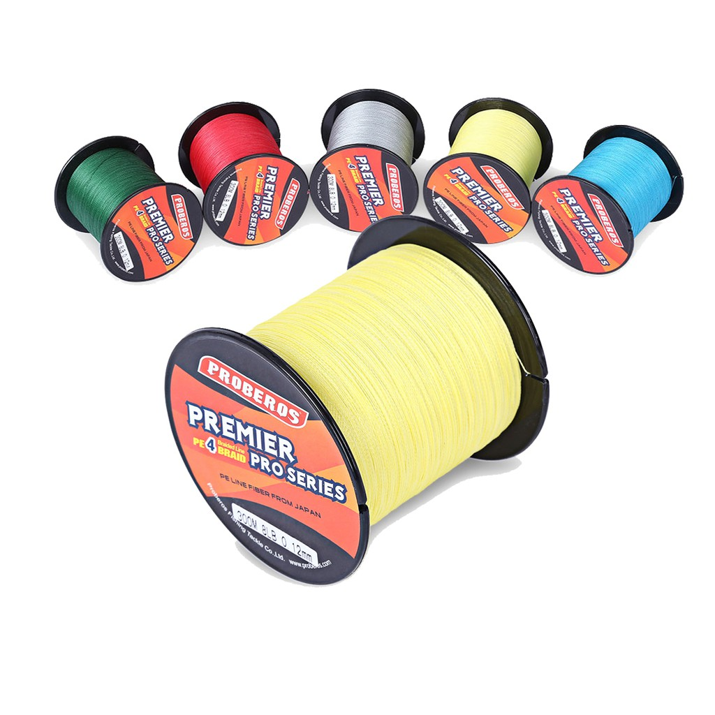 4 Braided Fishing Line 1000M PE Yellow Super Strengh 100% Japan Material | Shopee Malaysia
