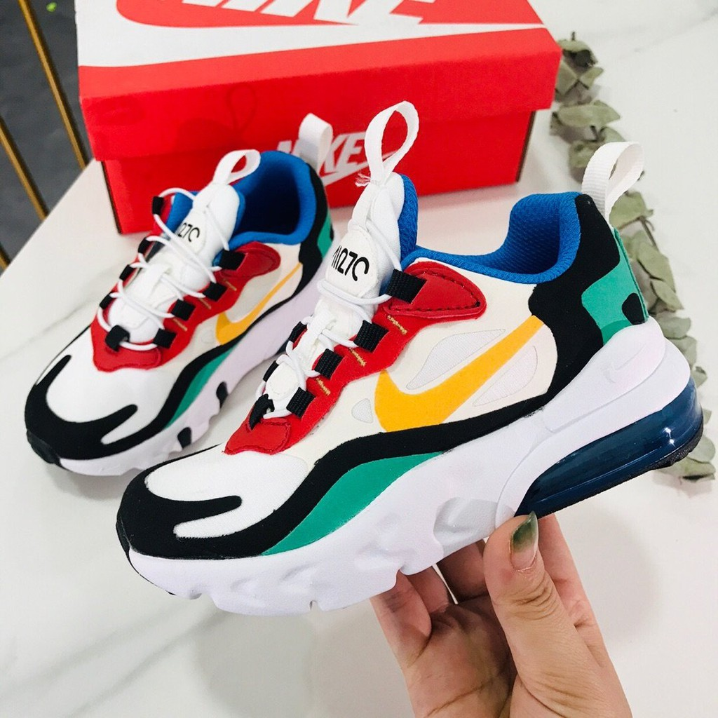 is enough merchant Moral  Kids shoes! Nike Air Max 270 React unisex jogging sneakers original |  Shopee Malaysia