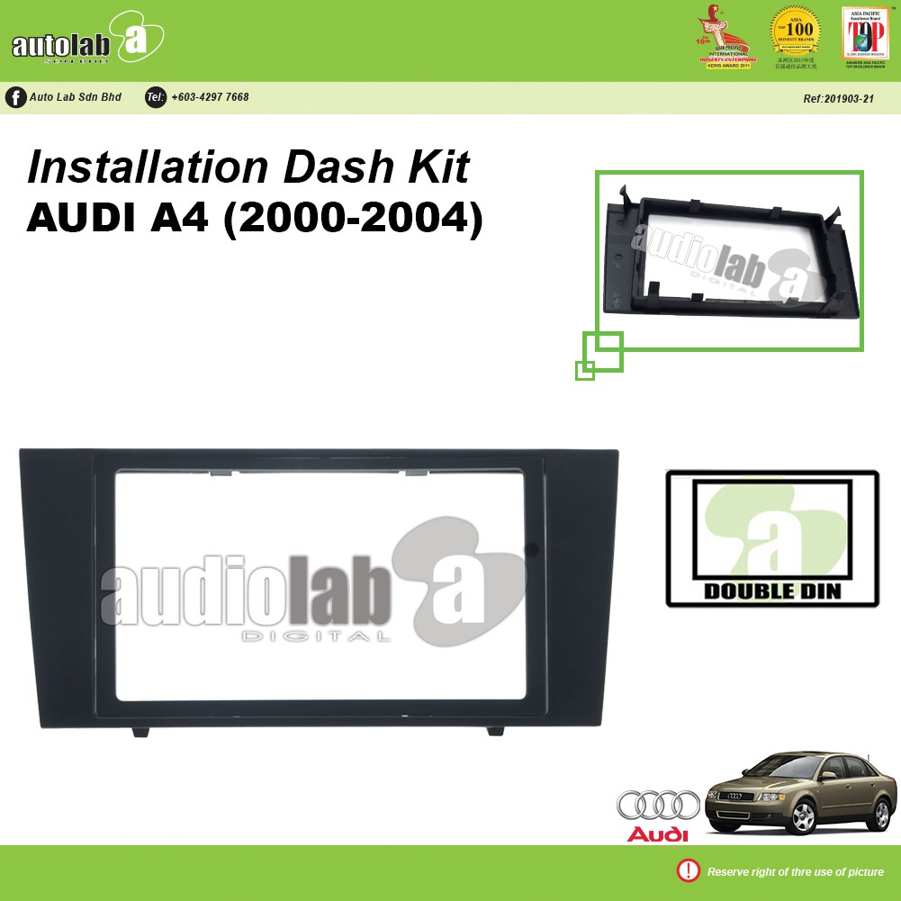 Player Casing Double Din Audi A4 (2000-2004)