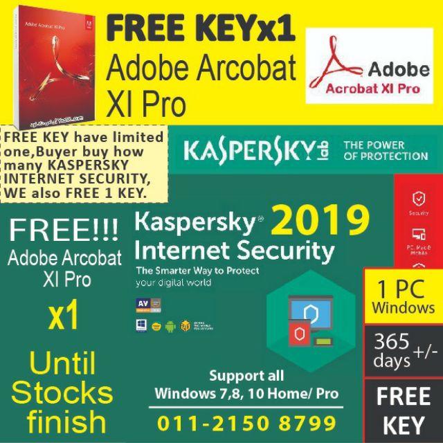 Kaspersky internet security 2019 (1pc) Free adobe acrobat xi pro