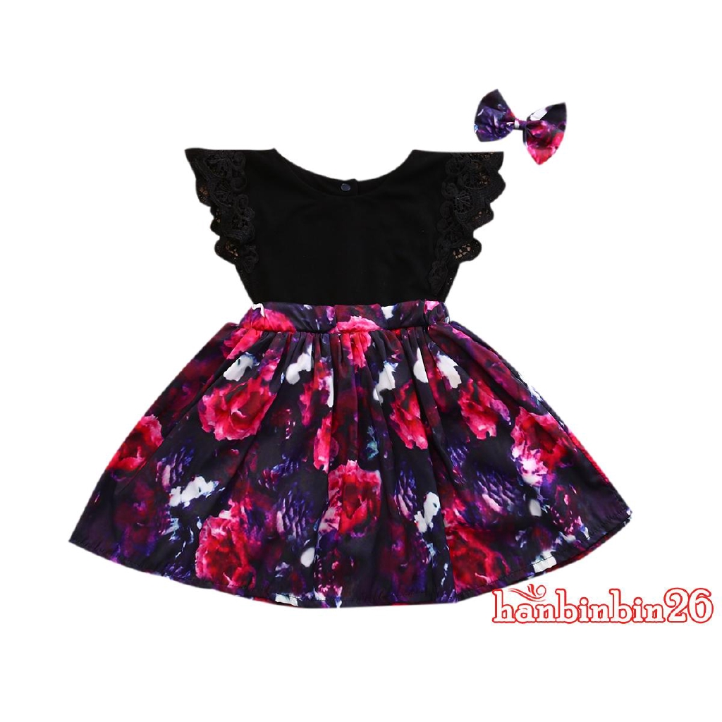 21f1ade6431c3 AydღToddelr Kids Baby Girls Sister Matching Floral Jumpsuit Romper Dress