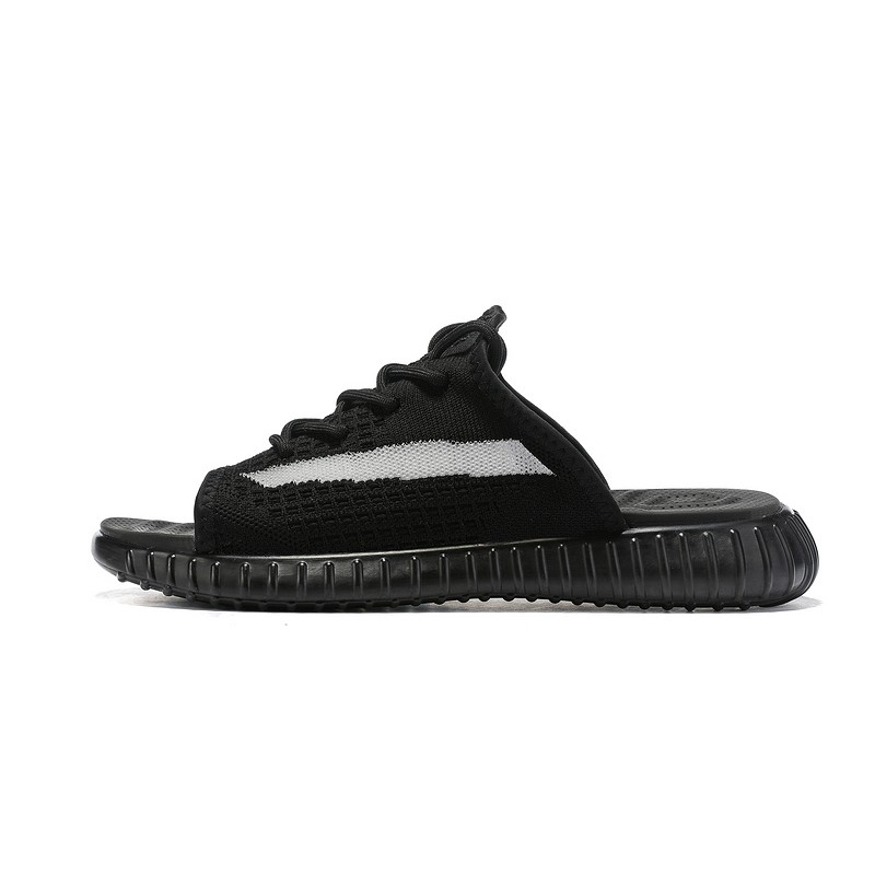release date 8239b 555c6 Adidas Yeezy Boost Sply 350 V2 Kanye West Men Women Cool Slippers For All  Black White