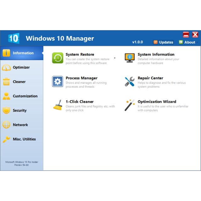 🔥HOT🔥WINDOWS 10 MANAGER 2 3 7