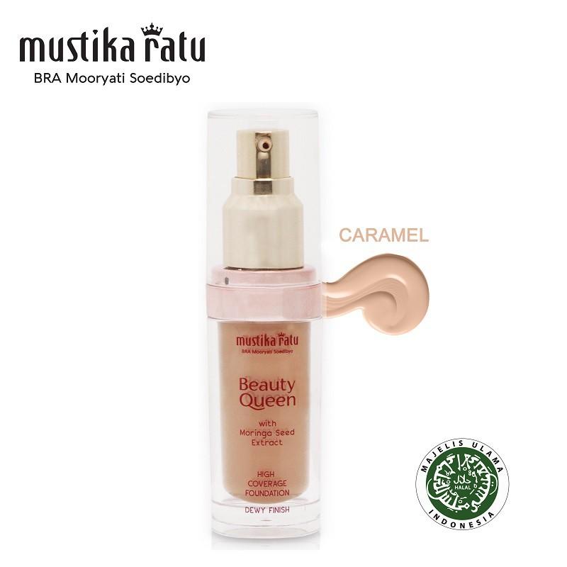 Mustika Ratu Beauty Queen High Coverage Foundation Dewy Finish Caramel (35ml)