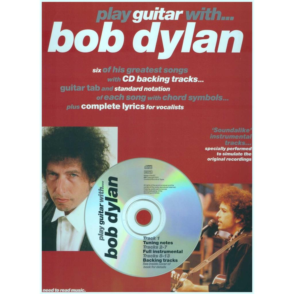 Play Guitar With... Bob Dylan / Vocal Book / Voice Book / Guitar Book