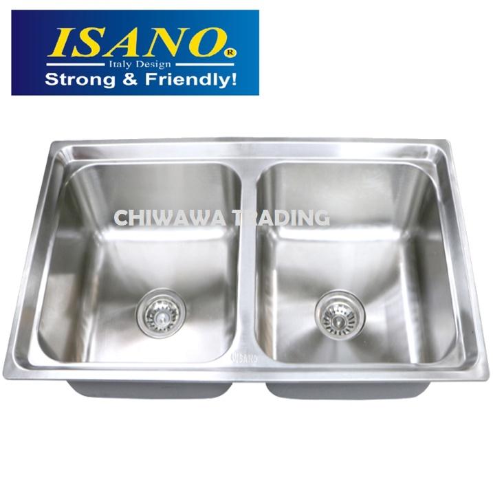 ISANO B225 Stainless Steel Kitchen Sink Bowl Basin Drainer