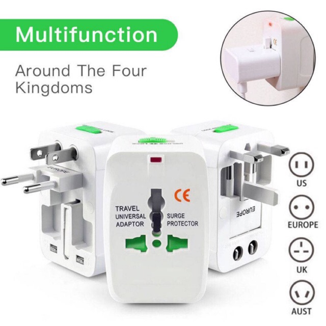 All in One Universal International Plug Travel Adapter Worldwide Travel AC Power Wall Charger Adaptor For AU US UK EU Co
