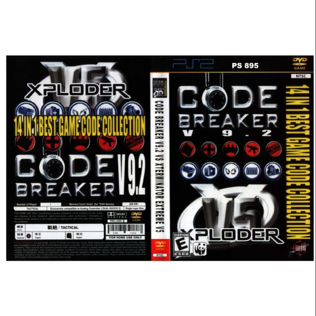 PS2 Games CD Collection Code Breaker V 9 2