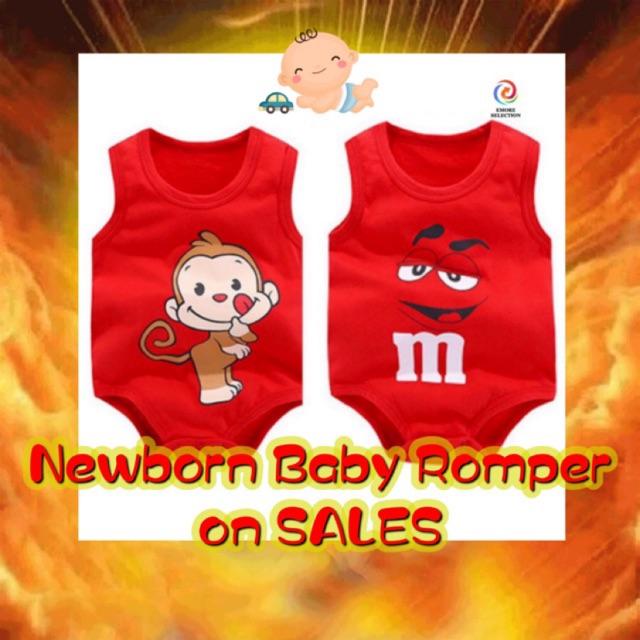 [READY STOCK] Newborn baby romper Baby Jumpsuit Baju Bayi