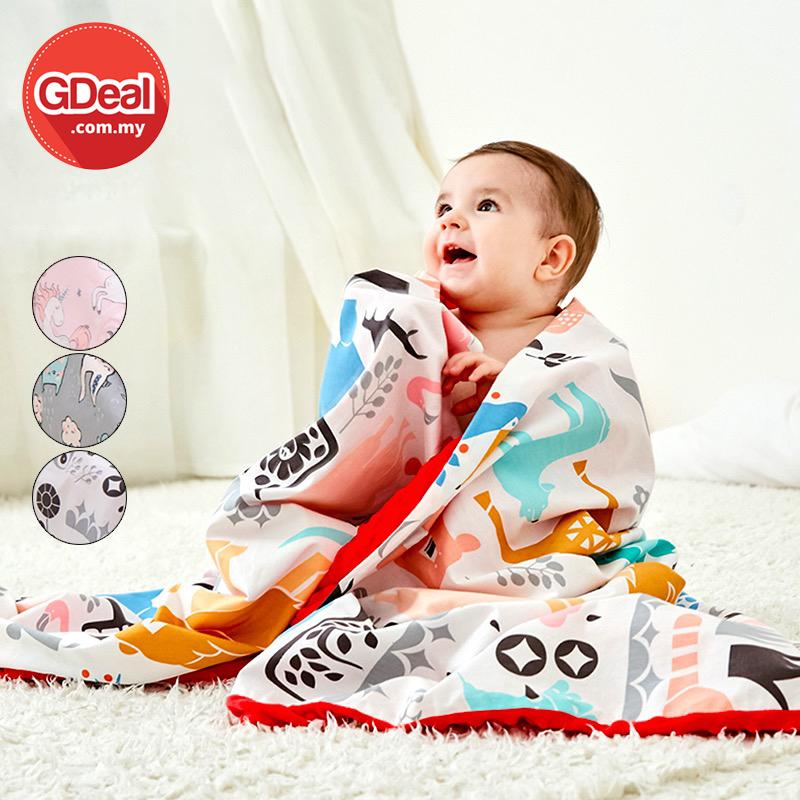 GDeal Cotton Cartoon Baby Blanket Baby Comfort Peas Keep Warm Quilt Blanket Washable Stroller Blanket Selimut Kapas