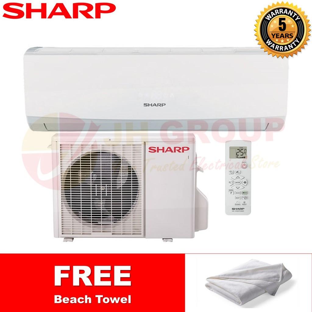SHARP AHA9UCD / AUA9UCD 1HP R410A AIR CONDITIONER *FREE TOWEL