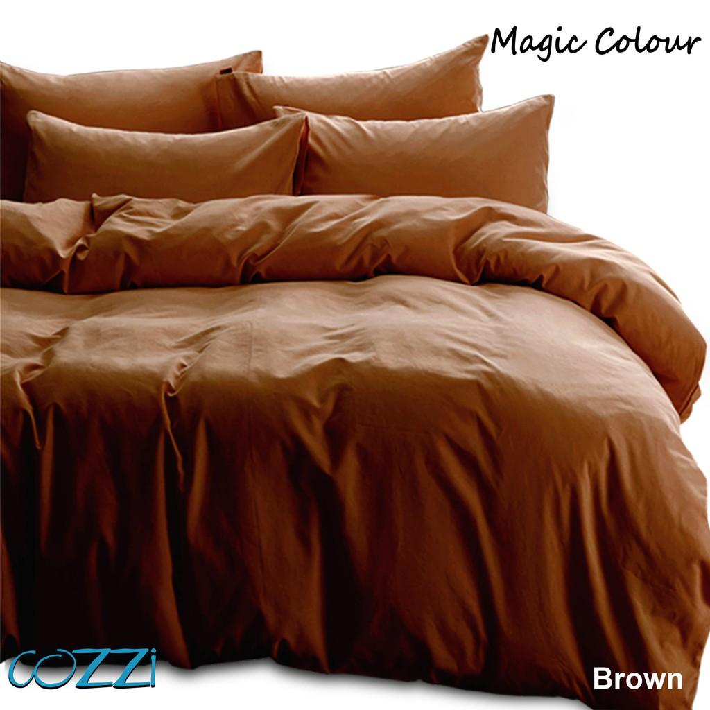 Cozzi Magic Colour Comforter & Fitted Bedsheet Cadar Plain Colour Set King / Queen / Super Single / Single