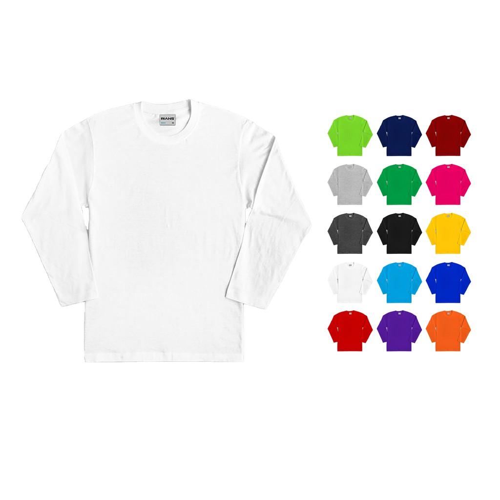 Baju Putih Lengan Panjang Plain White Longsleeve Tshirt High Quality Size Xs 5xl Unisex Shopee Malaysia