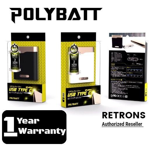 [1 Year Warranty] Genuine Polybatt True Type-C 10400 mAh Power Bank SP1511 Palm size small & Light weight design