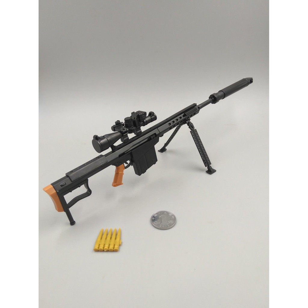 1 6 M82a1 Barrett Sniper Rifle Diy Assembling Toy Gun Model Puzzles Building Bricks Plastic Toy For Action Figure Shopee Malaysia