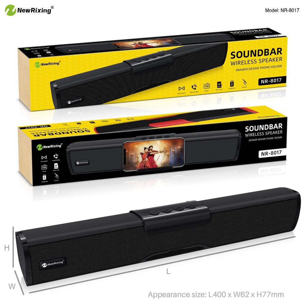 NEW RIXING NR-8017/ NR-4023 Wireless Bluetooth TWS SoundBar 3D Soundbar Portable Speaker