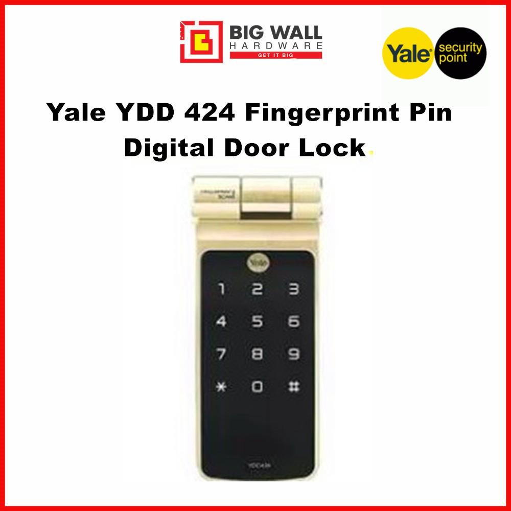 Yale YDD 424 fingerprint pin digital door lock (With Free Luggage Padlock)