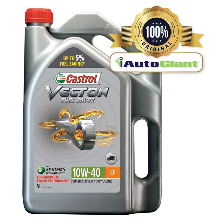 CASTROL VECTON FUEL SAVER 10W40 CF 5 LITER (100% ORIGINAL)