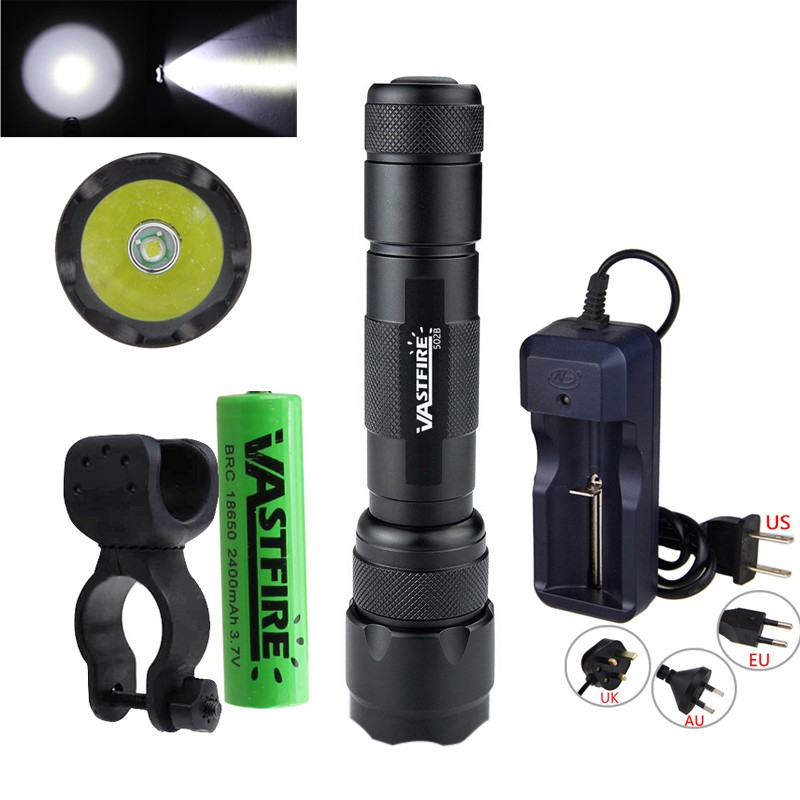 8000lm Red//Green//White LED Flashlight Tactical Hunting Light 18650 w// Dot Mount