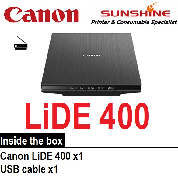 Canon LiDE 400 Fast and Compact Flatbed Scanner with Upright Scanning