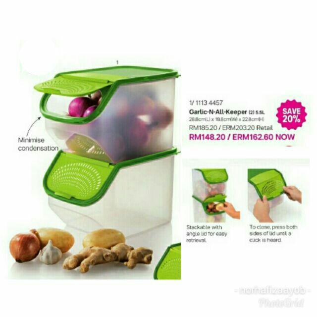 Garlic N All Keeper tuppeware- bekas bawang