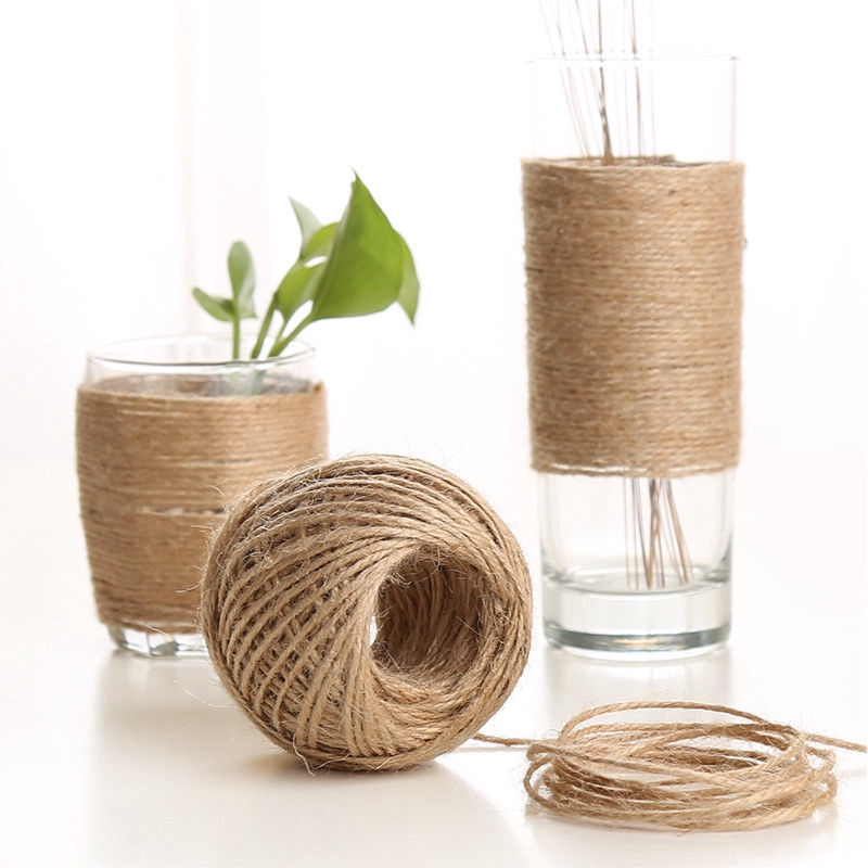 100M Natural Brown Jute Hemp Rope Twine String Cord Shank Craft String DIY
