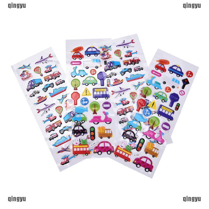 2Pcs Cartoon Bubble Stickers Diary Transport Notebook Sticker Label Decoration