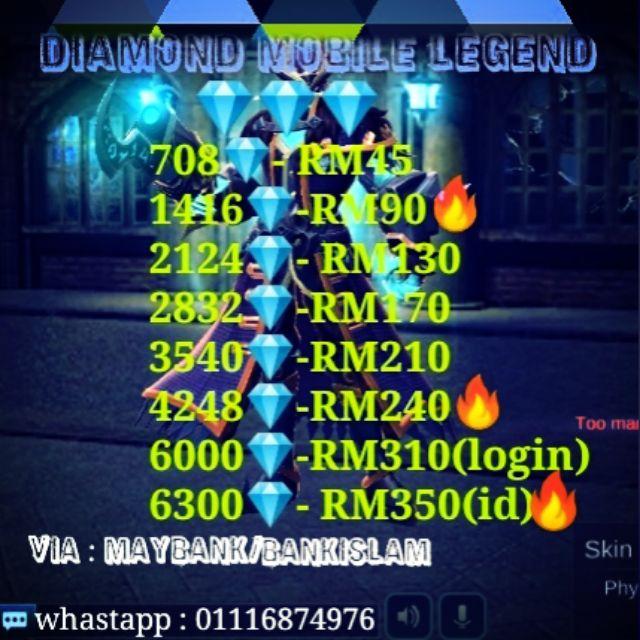 Diamond Mobile Legend( below original price!!!!)