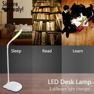 Cordless USB Rechargeable Touch Sensor LED Light Desk Table Reading Lamp